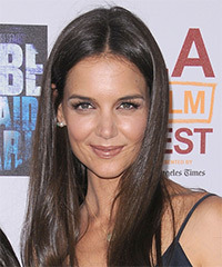 Katie Holmes Long Straight Casual    Hairstyle   -  Brunette Hair Color