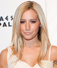 Ashley Tisdale Long Straight Formal    Hairstyle   -  Blonde Hair Color with Light Blonde Highlights