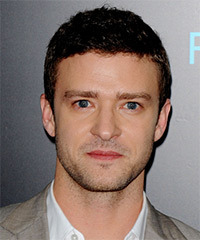 Jusitn Timberlake Short Wavy Casual    Hairstyle   - Dark Brunette Hair Color