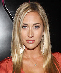 Lauren Stoner Long Straight Casual    Hairstyle   -  Golden Blonde Hair Color with Light Blonde Highlights