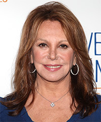 Marlo Thomas  Long Straight Casual    Hairstyle   - Light Chestnut Brunette Hair Color