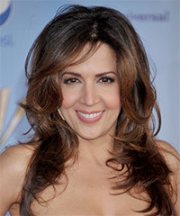 Maria Canals Berrera Long Straight Formal    Hairstyle   - Dark Brunette Hair Color