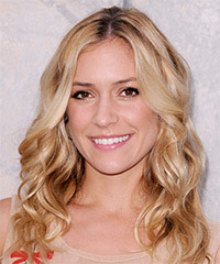 Kristin Cavallari Medium Wavy Casual    Hairstyle   -  Honey Blonde Hair Color with Light Blonde Highlights