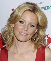 Elizabeth Banks Medium Wavy Casual    Hairstyle   - Dark Honey Blonde Hair Color with Light Blonde Highlights