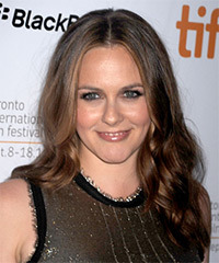 Alicia Silverstone Long Wavy Formal    Hairstyle   -  Brunette Hair Color