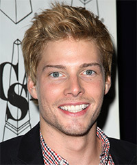Hunter Parrish Short Straight Casual    Hairstyle   - Light Blonde Hair Color