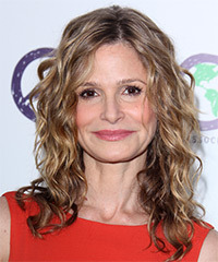 Kyra Sedgwick Medium Wavy Casual    Hairstyle   - Dark Champagne Blonde Hair Color with Light Blonde Highlights