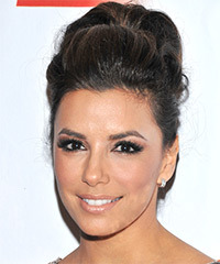 Eva Longoria Parker  Long Curly Formal   Updo Hairstyle   - Mocha Hair Color