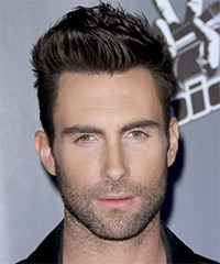 Adam Levine Short Straight Casual    Hairstyle   - Mocha Hair Color
