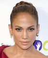Jennifer Lopez  Long Curly Formal  Braided Updo Hairstyle   - Light Brunette Hair Color