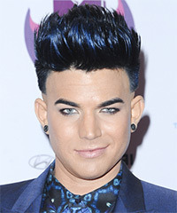 Adam Lambert Short Straight Alternative  Emo  Hairstyle   with Blue Highlights