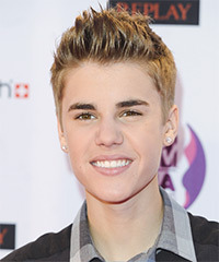 Justin Bieber Short Straight Casual    Hairstyle   - Dark Blonde Hair Color