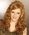 Long Curly Formal    Hairstyle with Side Swept Bangs  - Light Ginger Red Hair Color