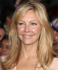 Heather Locklear Long Straight Casual    Hairstyle   -  Golden Blonde Hair Color