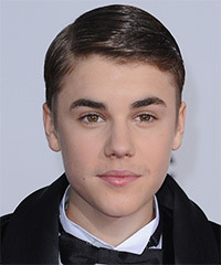Justin Bieber Short Straight Formal    Hairstyle