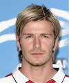 David Beckham Medium Straight Formal    Hairstyle