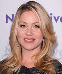 Christina Applegate Long Straight Casual    Hairstyle   -  Copper Blonde Hair Color with Light Blonde Highlights