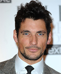 David Gandy Short Straight Casual    Hairstyle   - Black  Hair Color
