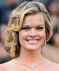 Missi Pyle  Long Curly Formal   Updo Hairstyle   -  Blonde Hair Color