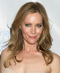 Leslie Mann Long Straight Casual    Hairstyle   - Dark Blonde Hair Color