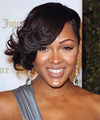 Meagan Good Short Wavy   Black    Hairstyle