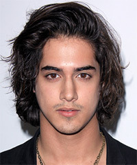 Avan Jogia Long Wavy Casual    Hairstyle   - Black  Hair Color