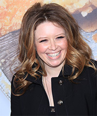 Natasha Lyonne Long Curly Casual    Hairstyle   -  Chestnut Brunette Hair Color with Dark Blonde Highlights
