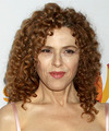 Bernadette Peters Medium Curly Casual    Hairstyle   - Light Copper Red Hair Color