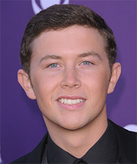 Scotty McCreery  Short Straight Formal    Hairstyle   - Dark Brunette Hair Color