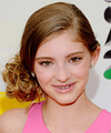 Willow Shields  Long Curly Formal   Updo Hairstyle   - Light Chestnut Brunette Hair Color