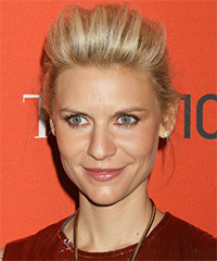 Claire Danes  Long Straight Formal   Updo Hairstyle   -  Golden Blonde Hair Color with Light Blonde Highlights
