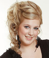 Long Curly Formal   Updo Hairstyle   -  Blonde Hair Color with Light Blonde Highlights