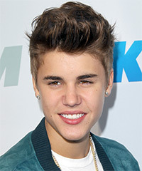 Justin Bieber Short Straight Casual    Hairstyle   -  Ash Brunette Hair Color