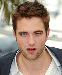 Robert Pattinson Short Straight Casual    Hairstyle   -  Auburn Brunette Hair Color