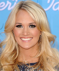 Carrie Underwood Long Wavy Formal    Hairstyle   - Light Honey Blonde Hair Color