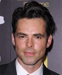 Jason Thompson Short Straight Formal    Hairstyle   - Black  Hair Color