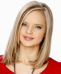 Medium Straight Formal  Bob  Hairstyle   - Light Ash Blonde Hair Color with Dark Blonde Highlights