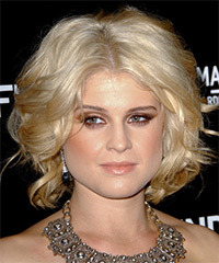 Kelly Osbourne Short Wavy Formal    Hairstyle   - Black Golden  Hair Color with Light Blonde Highlights