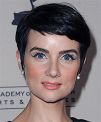 Victoria Summer  Short Straight Formal    Hairstyle   - Black Ash  Hair Color