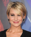 Chelsea Kane Short Straight Casual    Hairstyle with Side Swept Bangs  -  Golden Blonde Hair Color with Light Blonde Highlights