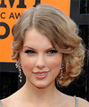 Taylor Swift  Long Curly    Champagne Blonde  Updo    with Light Blonde Highlights