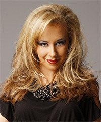 Long Straight Casual    Hairstyle   - Dark Golden Blonde and  Blonde Two-Tone Hair Color with Light Blonde Highlights