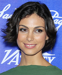 Morena Baccarin Short Straight Layered  Black  Bob  Haircut