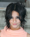 Vanessa Hudgens Short Wavy   Black    Hairstyle
