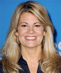 Lisa Whelchel Long Straight Casual    Hairstyle   - Dark Blonde Hair Color with Light Blonde Highlights
