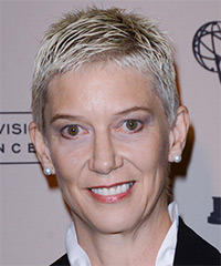 Patricia Kelly  Short Straight Casual    Hairstyle   - Light Platinum Blonde Hair Color