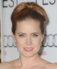 Amy Adams  Long Straight Formal   Updo Hairstyle   - Light Caramel Brunette Hair Color