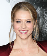 Teresa Palmer  Long Straight Formal   Updo Hairstyle   -  Blonde Hair Color