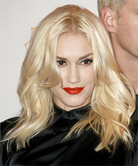 Gwen Stefani Long Straight Casual    Hairstyle   - Light Blonde Hair Color