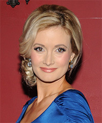 Holly Madison  Long Straight Formal   Updo Hairstyle   -  Blonde Hair Color with Light Blonde Highlights